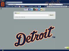Detroit Tigers Chrome Theme