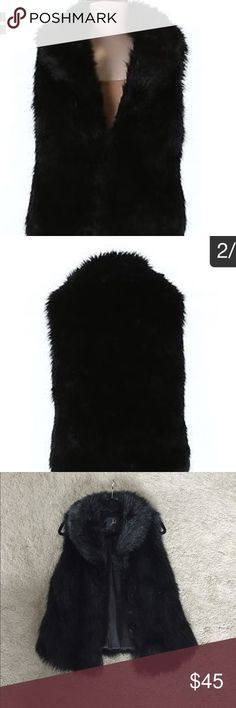 Black faux fur vest Excellent condition....only worn a few times! Brand is Jack. Purchased from Lord and Taylor. Jackets & Coats Vests