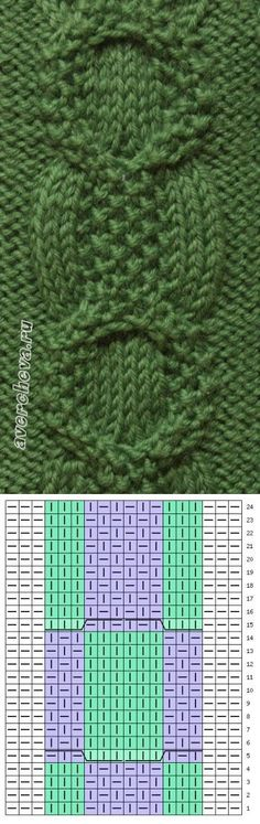 Knitting And Crocheting Knitting Paterns, Cable Knitting, Knitting Charts, Knitting Designs, Knit Patterns, Knitting Projects, Crochet Stitches, Stitch Patterns, How To Purl Knit