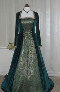 celtic medieval dresses | Medieval-Green-Wedding-Celtic-Dress-Renaissance-Ball-Gown-pagan-14-16 ...