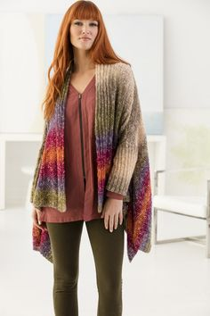 Knit Along with us and make this beautiful open cardigan with new Shawl in a Ball!
