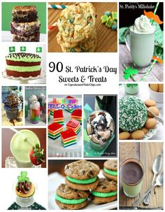 90 St. Patrick's Day Sweets & Treats - tons of desserts to celebrate the luck o' the Irish! | cupcakesandkalechips.com |