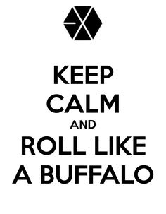 KEEP CALM AND ROLL LIKE A BUFFALO! #exo #kpop (from the song Two Moons and yes those are the ACTUAL english lyrics,kpop never fails to surprise us)