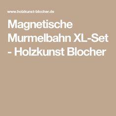 Unique Magnetische Murmelbahn XL Set Holzkunst Blocher