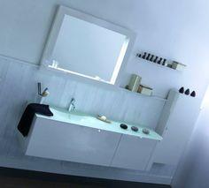 Κρεμαστό έπιπλο μπάνιου με γυάλινο νιπτήρα!