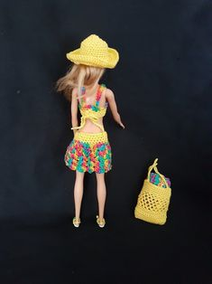 Barbie on the beach Barbie colorful beach outfit with   Etsy