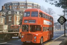 Ex Midland Red D9 5444 now WMPTE owned is sporting the NBC poppy red colour scheme, lighter than the red used by Midland Red. The bus is on the Wolverhampton service and has just passed the junction with Norfolk Rd. May 1974 Peter Shoesmith