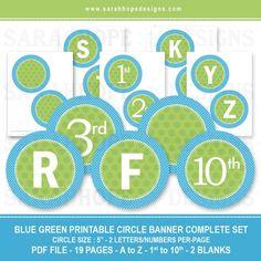 free printable customizable circle banner