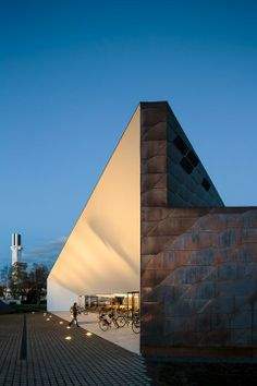 Seinäjoen Apila kirjasto - Apila library in Seinäjoki, Finland designed by JKMM Architects Library Architecture, Amazing Architecture, Architecture Details, Interior Architecture, Modern Buildings, Beautiful Buildings, Dover House, Metal Cladding, Public Space Design