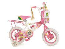 """John Deere 12"""" Girls Bike - Pink"""