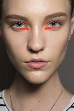 fashion week yadim orange liner makeup 2015   Trendspotting at New York Fashion Week: Bold Eyes for Spring 2015