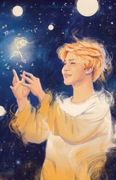 Dang! This is The Little Prince × Jimin fanart. But to me, this looks like sandman × Jimin fanart