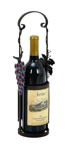Wine Bottle Holder Bronze Grapes Vine Kitchen Bar Home D  lamp   lighting, furniture   accents, home decor   accessories, wall decor, patio   garden, Rugs, seasonal decor,garden decor,home decor & accessories