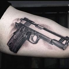 50 Cool Gun Tattoos for Men