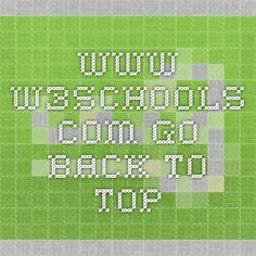 www.w3schools.com go back to top