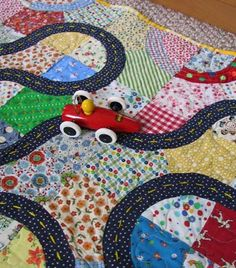 Oscar's Racetrack Quilt - I thought that'd be so neat for Oscar to drive his cars on.