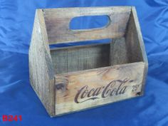 VINTAGE COCA COLA SODA BOTTLE CARRIER CRATE WOOD DISPLAY PIECE ADVERTISING COOL !!!!  ON AUCTION THIS WEEK!!!!!!