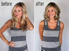 long to short hair before and after - Google Search