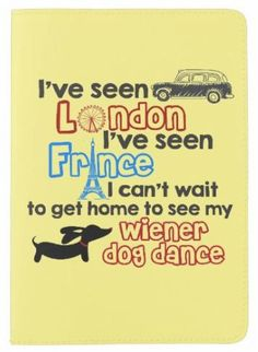 Cheeky London, France, Wiener Dog Dance Passport Cover - The Smoothe Store - 1