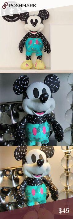 Disney store Limited Mickey Mouse kawaii 44cm Big toy plush stuffed white doll 0