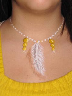 Feather necklace in 3d!