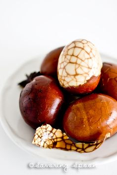 Marbled Chinese Tea Eggs | Easy, Flavorful, and Beautiful | www.savoringspoon.com
