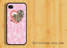 Love Heart Seamless Pattern -  iPhone 5 4 / 4s Galaxy Case Hard Plastic Case Rubber Case. $15.99, via Etsy.