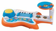 Cheap VTech Strum and Jam Kidi Musical Band FREE Shipping  3-in - 1 group : guitar, piano and drums Guitar chords , whammy bar and star buttons add guitar sounds realistic and funny sound effects 3 different styles of music : rock, hip -hop and jazz Switch to freestyle mode or play 12 most popular children Guitar strap and removable carrying handle easily pleased on the way