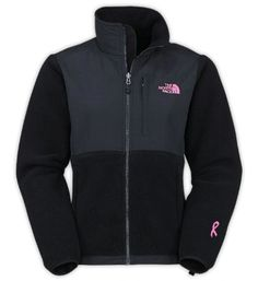 north face jacket,$69, The North Face Pink Ribbon Denali Jackets Black Discount