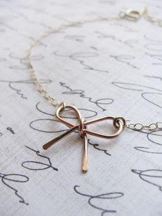 Rose gold bow | Gold filled bracelet