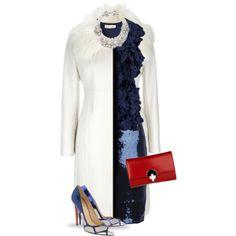 """""""White Coat"""" by yasminasdream on Polyvore"""
