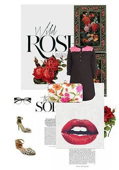 Exclusive Look by Red Silk, Red Lace, Tunics Online, Red Fabric, My Boutique, Black Faux Leather, Printed Cotton, Vip, Floral Prints