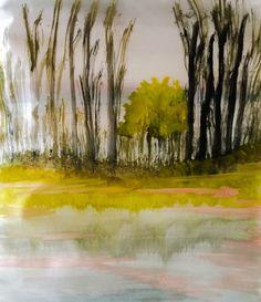 ©Woods and Trees 🌲 painted by Iris Sun, watercolor  www.irisunart.com
