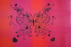 Butterfly on silk