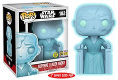 Star Wars: Supreme Leader Snoke glow-in-the-dark Pop by Funko, 2017 San Diego Comic con exclusive