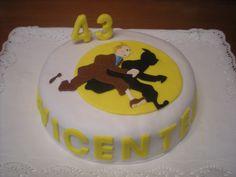 Nos encantó hacer esta tarta de Tintín!! Menuda sorpresa se llevó Vicente!!