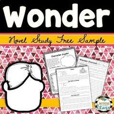 This is an 8 page FREE sample of my Common Core aligned literature unit for Wonder, by R.J. Palacio. It includes comprehension for the first seven chapters of the book, a writing activity, a Precept poster, and a Common Core aligned activity! This makes a perfect no prep book companion, and is great for