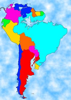 Map of South America if all the ice melted in the world