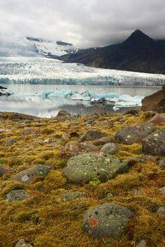 Europe's largest glacier, Vatnajokull, Iceland.