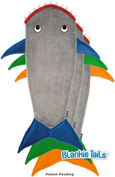Ohh! Shark attack blankets! One color for each boy and mermaid tails for my daughter and I . Shark Blanket by Blankie Tails - Gray- Blankie Tails - 1