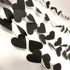 rock and roll hearts paper garland by funky frills uk | notonthehighstreet.com