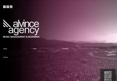 design site alvinceagency.com by be agency