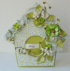 Dorota_mk: Kurs na wielkanocny domek Birdhouse. Paper Pop, Diy And Crafts, Paper Crafts, Shabby Chic Cards, Shaped Cards, Bird Cards, Card Tutorials, Pretty Cards, Creative Cards