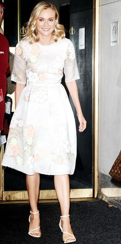Look of the Day - July 15, 2014 - Diane Kruger in Honor from #InStyle