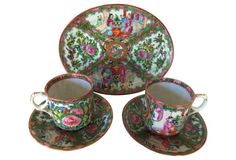 Chinese Famille Rose Set, 5 Pcs