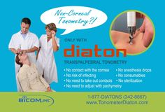 Tonometry through eyelid with Diaton tonometer. Non-corneal tonometry through eyelid and sclera (no contact with cornea) www.tonometerDiat...