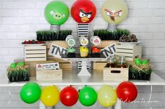 Angry Birds Party Ideas and Free Printables. DIY this fun Angry Birds themed party yourself at home via @frostedevents  #AngryForSavings #ad