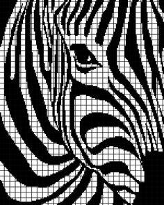 Zebra (Chart/Graph AND Row-by-Row Written Crochet Instructions) – 01 Sie Grafikdesign C2c Crochet, Tapestry Crochet, Crochet Chart, Filet Crochet, Cross Stitch Charts, Cross Stitch Designs, Cross Stitch Patterns, Loom Patterns, Crochet Patterns