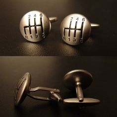 Gear Shifter Cuff Links  These Gear Shifter Cuff Links are perfect for auto enthusiasts and anyone with Ryan Gosling's talents in Drive.