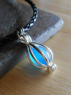Faux Sea Glass Jewelry  Beach Glass Necklace  by SeaFindDesigns, $18.00